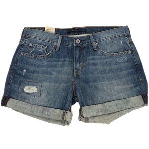 NWT Levi's Boyfriend Jean cuffed shorts